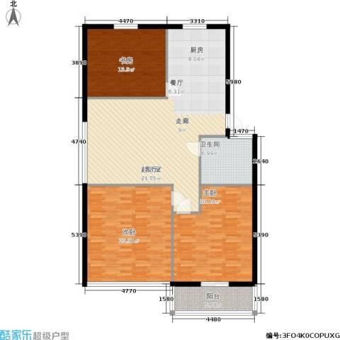 三里家园二区3室0厅1卫0厨128.00㎡户型图