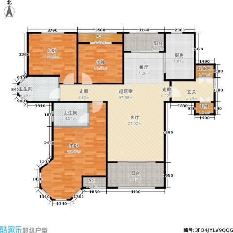 绿地香树花城3室0厅2卫1厨133.00㎡户型图