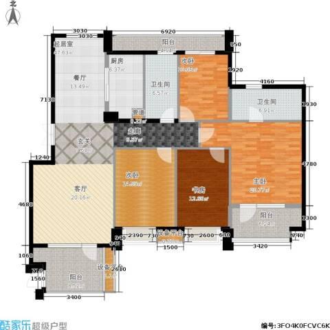 东城印象4室0厅2卫1厨165.00㎡户型图