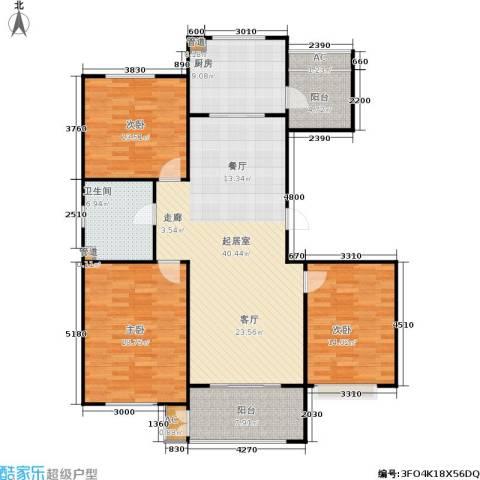 绿地香树花城3室0厅1卫1厨158.00㎡户型图