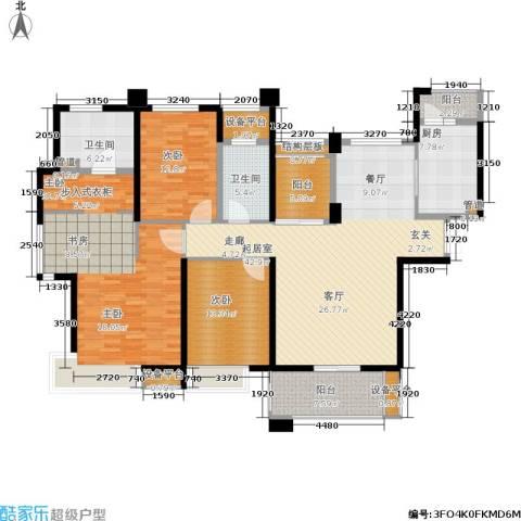 世茂・江滨花园3室0厅2卫1厨159.00㎡户型图