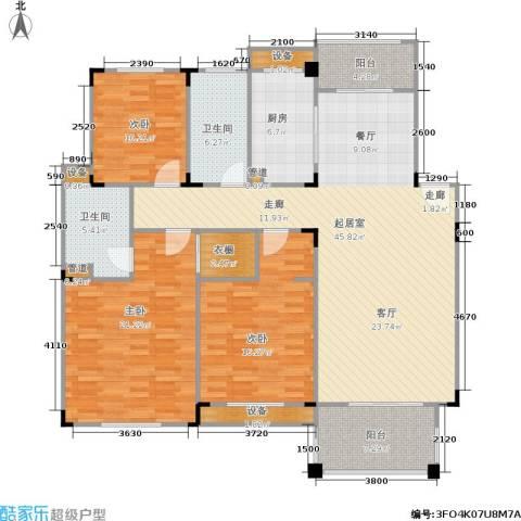 绿城桂花城3室0厅2卫1厨140.00㎡户型图