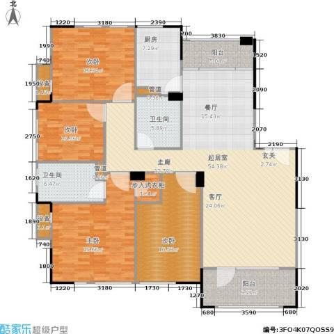 绿城桂花城4室0厅2卫1厨168.00㎡户型图