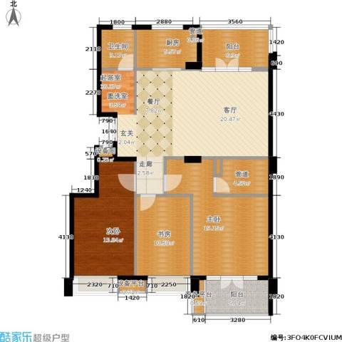 东城印象3室0厅1卫1厨121.00㎡户型图