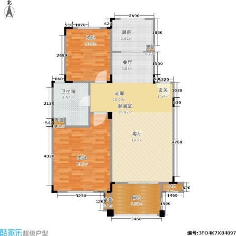 绿城桂花城2室0厅1卫1厨93.00㎡户型图