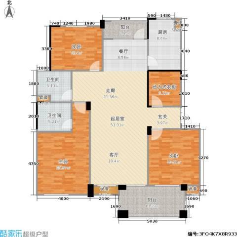 绿城桂花城3室0厅2卫1厨153.00㎡户型图