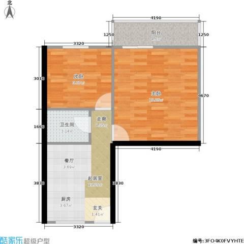 景芳新五区2室0厅1卫0厨53.00㎡户型图