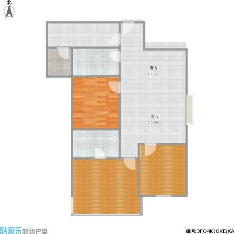 嘉富广场二期1室1厅2卫1厨122.00㎡户型图