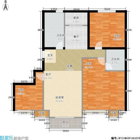 东都公寓3室0厅2卫1厨120.00㎡户型图