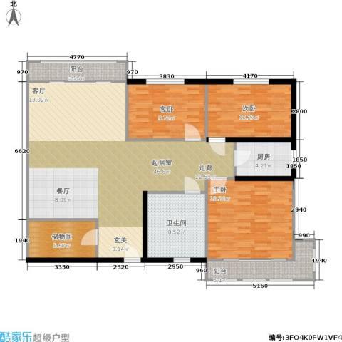 景芳新五区3室0厅1卫1厨120.00㎡户型图