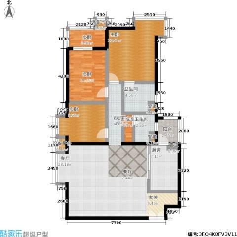 世桥国贸公寓4室0厅2卫1厨146.00㎡户型图