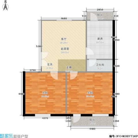 东方豪园2室0厅1卫1厨90.00㎡户型图