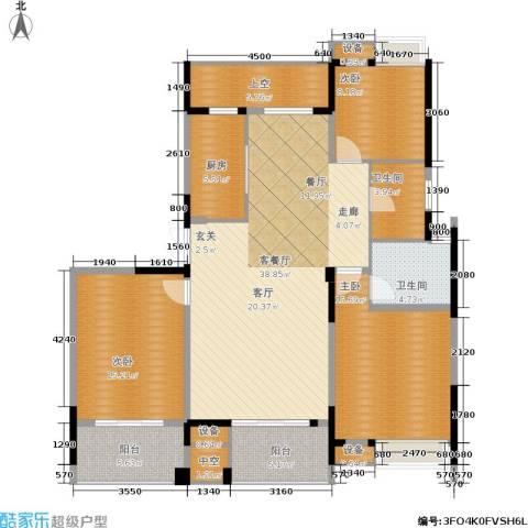 上东臻品3室1厅2卫1厨156.00㎡户型图
