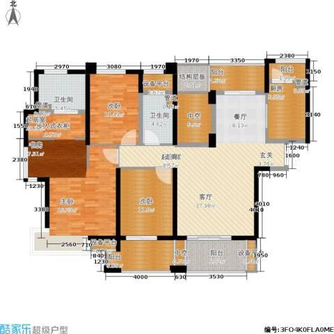 世茂・江滨花园2室0厅2卫1厨159.00㎡户型图