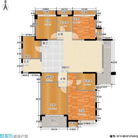 上东臻品4室1厅2卫1厨183.00㎡户型图