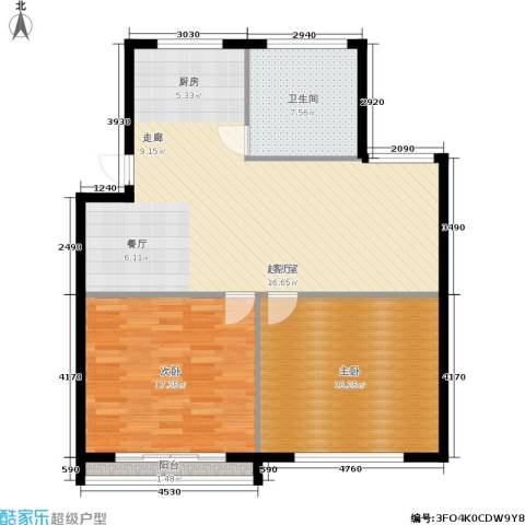 东园高层公寓2室0厅1卫0厨90.00㎡户型图