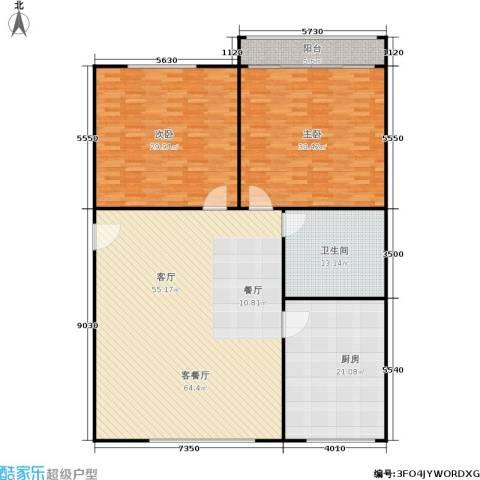 三里新城兰苑2室1厅1卫1厨172.00㎡户型图
