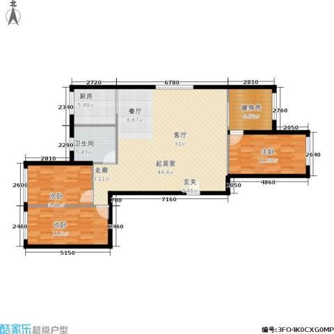 静安花园3室0厅1卫1厨104.00㎡户型图