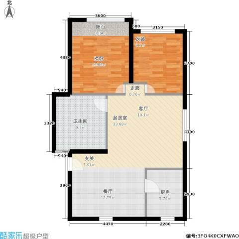 静安花园2室0厅1卫1厨80.00㎡户型图