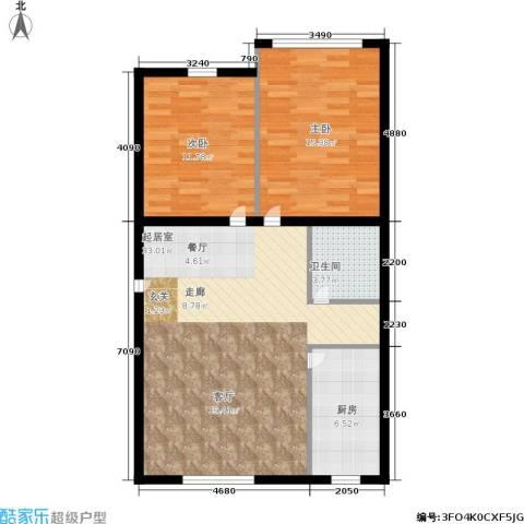 静安花园2室0厅1卫1厨78.00㎡户型图