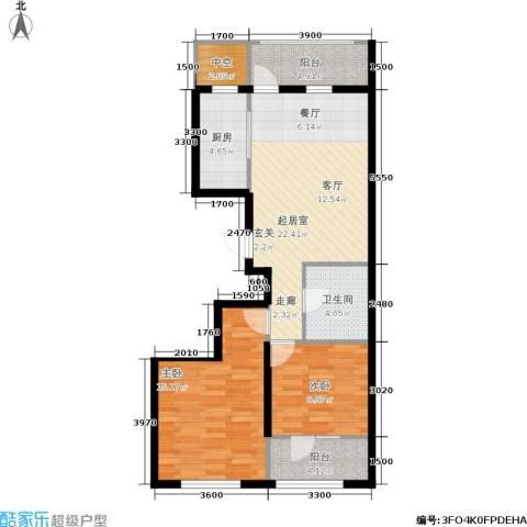 大都文苑风情2室0厅1卫1厨78.00㎡户型图