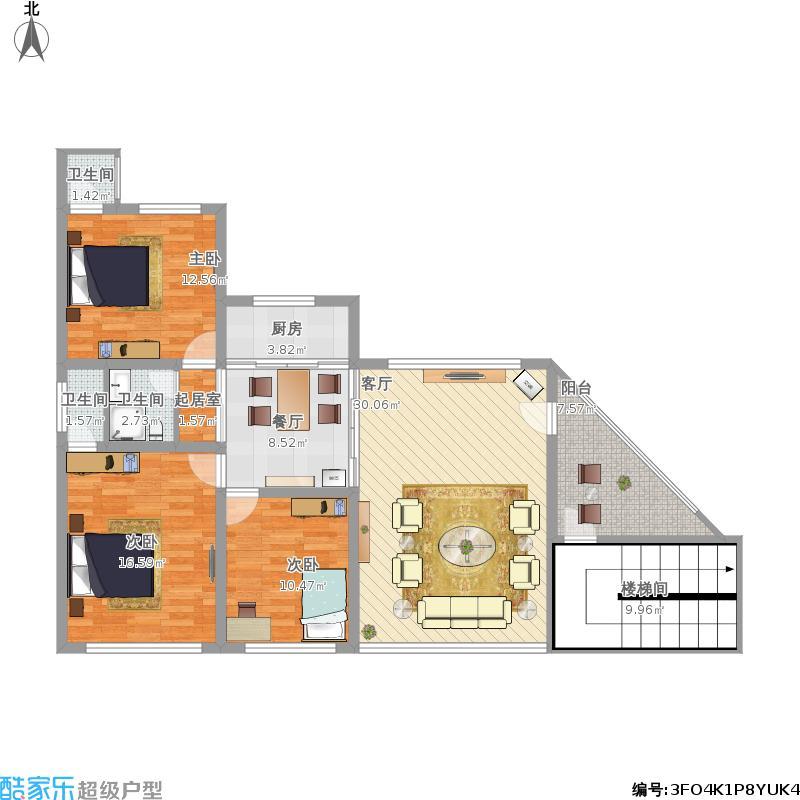 三室两厅一厨三卫一阳台
