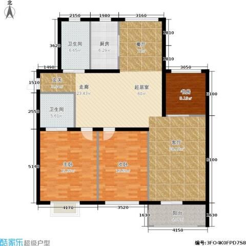 大都文苑风情3室0厅2卫1厨143.00㎡户型图