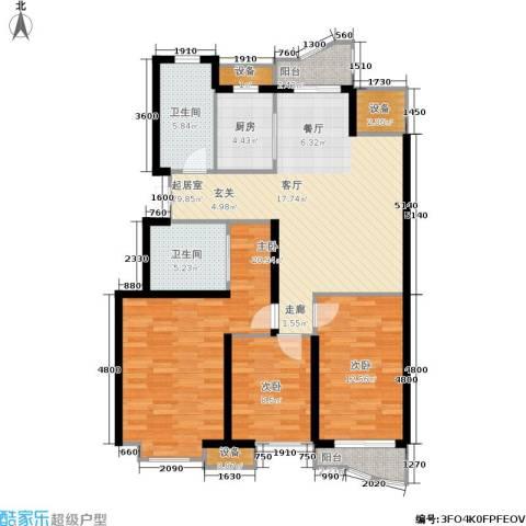 大都文苑风情3室0厅2卫1厨127.00㎡户型图
