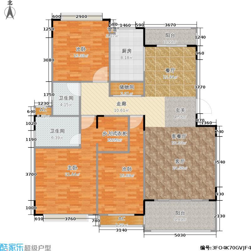 公园1号未命名户型3室1厅2卫1厨