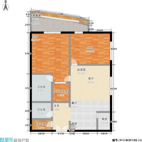 旺座中心2室0厅2卫1厨157.00㎡户型图