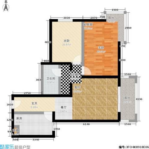 京东丽景苑1室0厅1卫1厨86.00㎡户型图