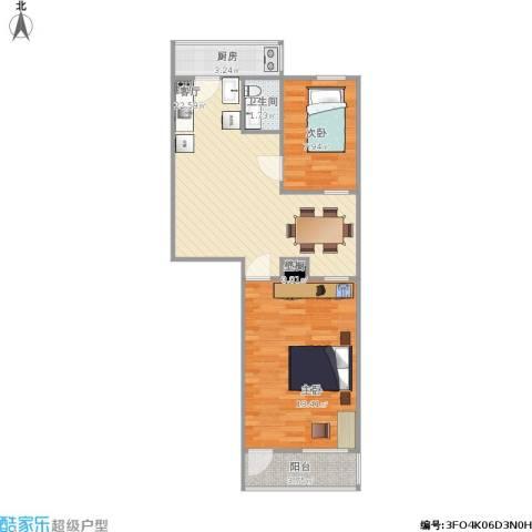 机车新村2室1厅1卫1厨79.00㎡户型图