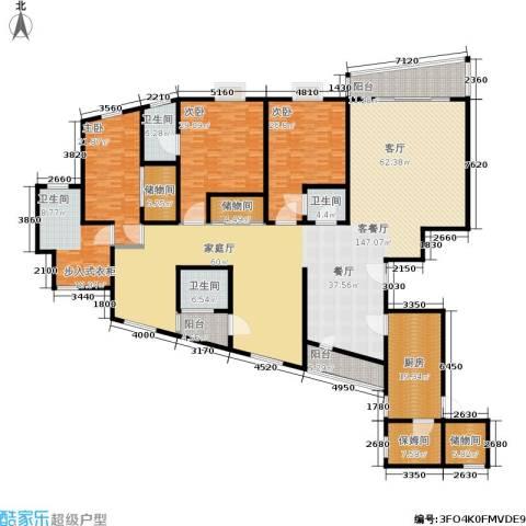 东方润园3室1厅3卫1厨363.00㎡户型图