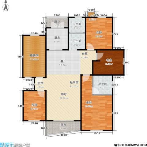 湘府花园4室0厅2卫1厨161.00㎡户型图