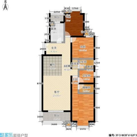 世桥国贸公寓3室0厅2卫1厨153.00㎡户型图