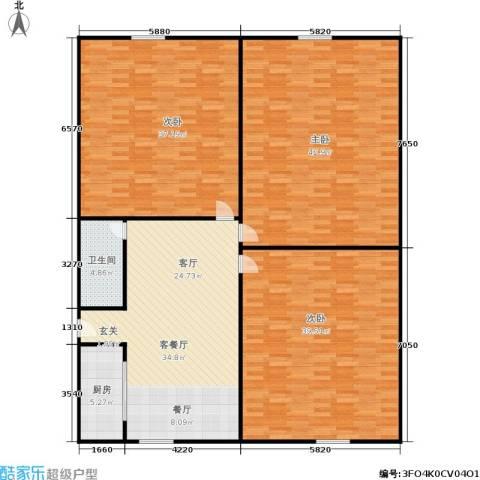 三里新城兰苑3室1厅1卫1厨172.00㎡户型图