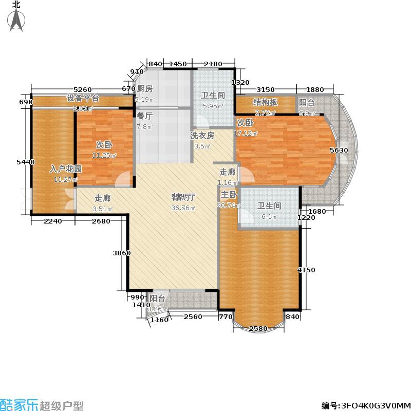 蔚蓝公寓144.00㎡面积14400m户型
