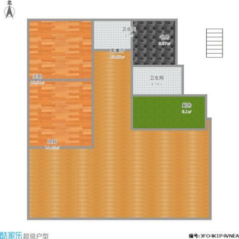 浦发绿城3室1厅2卫1厨149.00㎡户型图
