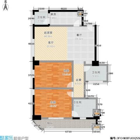 旺座中心2室0厅3卫1厨137.00㎡户型图
