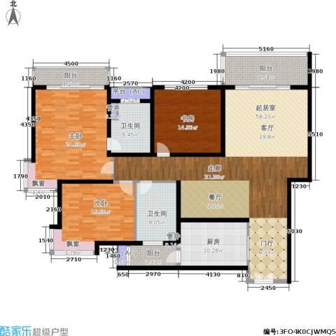 新城国际3室0厅2卫1厨178.00㎡户型图
