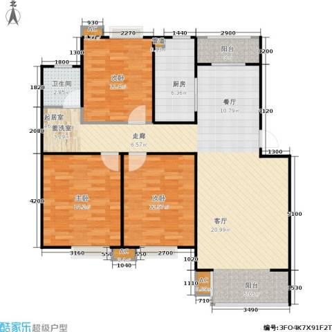 华侨绿洲3室0厅1卫1厨103.00㎡户型图