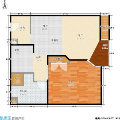泰悦豪庭1室1厅1卫0厨73.00㎡户型图
