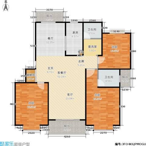 爱盛家园3室1厅2卫1厨138.00㎡户型图