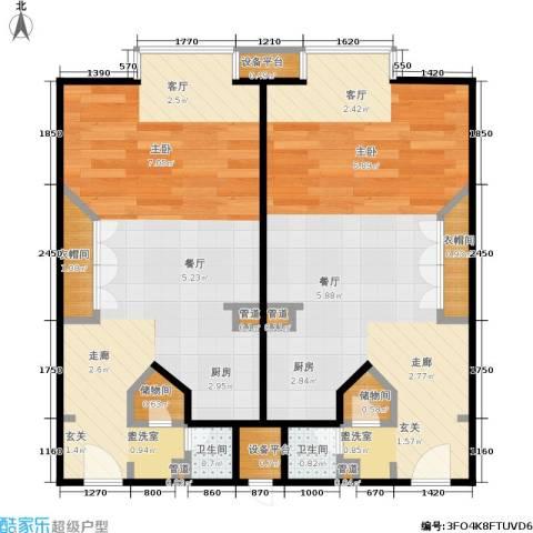 泰悦豪庭2卫0厨58.00㎡户型图