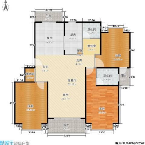 爱盛家园3室1厅2卫1厨137.00㎡户型图