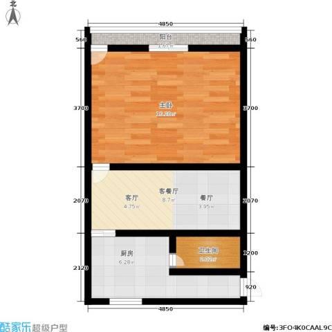 采荷路17号1室1厅1卫1厨41.00㎡户型图