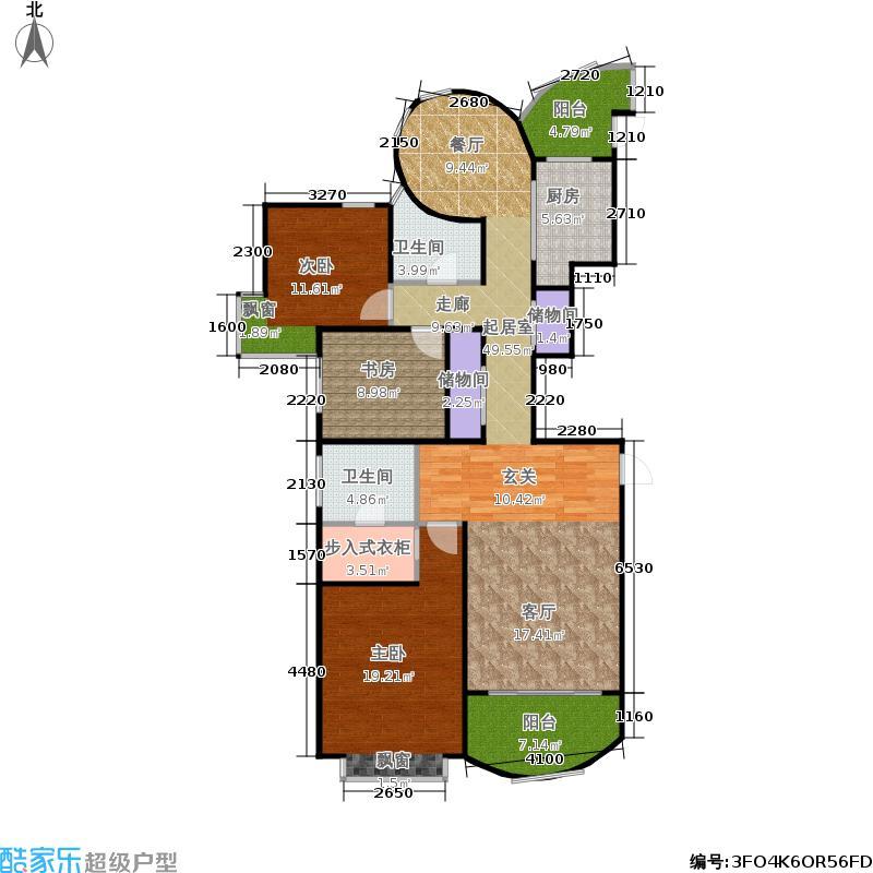 耀江国际广场130.00㎡房型: 三房; 面积段: 130 -180 平方米; 户型