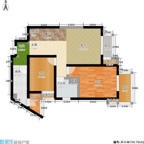 金桥太阳岛2室0厅1卫1厨80.00㎡户型图