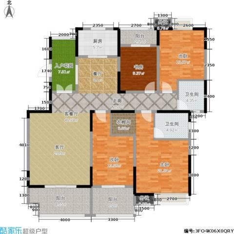 绿地世纪城4室1厅2卫1厨177.00㎡户型图