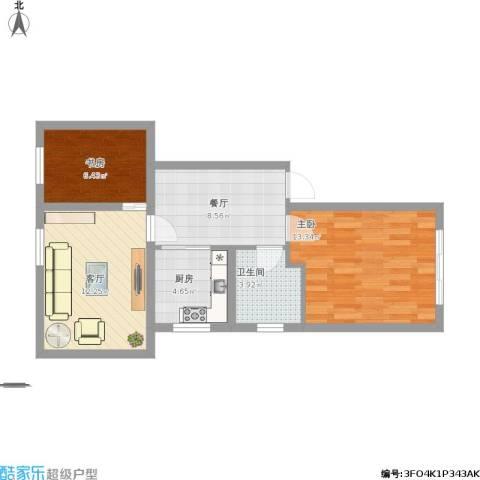金杨九街坊2室2厅1卫1厨71.00㎡户型图